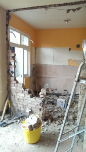 Smashing up walls is tremendous fun – cleaning up afterwards, less so