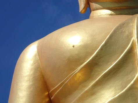 Golden Buddha and his tiny nipples