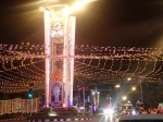 Lighting up the Trang clock tower