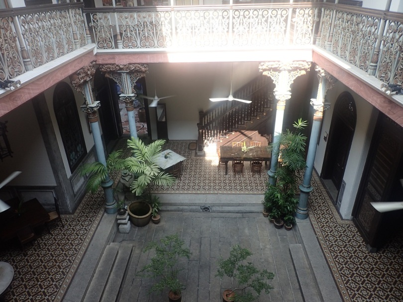 Blue Mansion courtyard