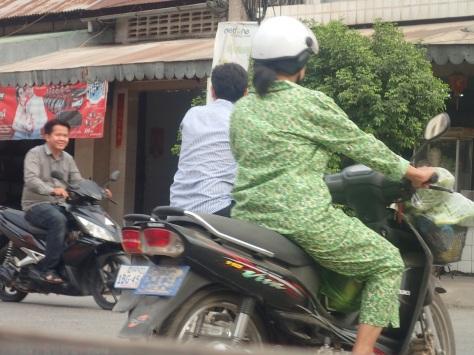 Cambodian women's two-piece