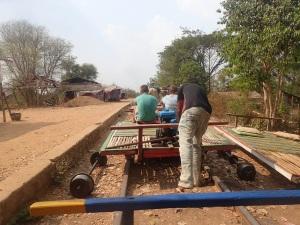 Battambang bamboo trains
