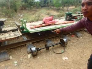 Disassembled train cart