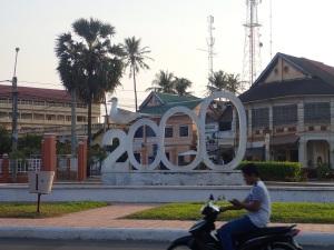 Millenium statue in Kampot
