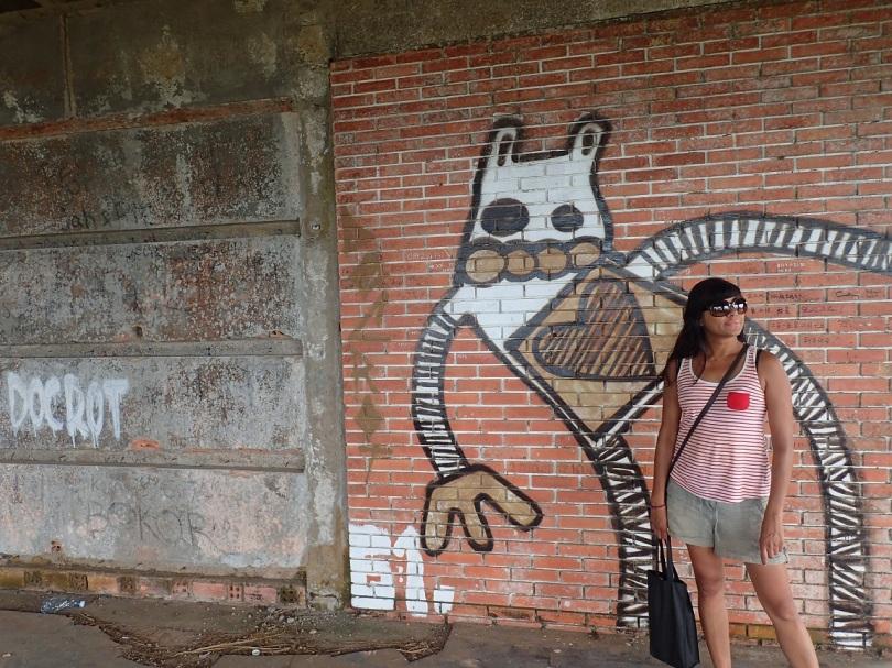 Graffiti in Bokor