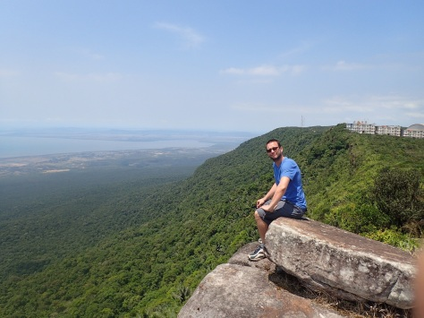 View from the top of Bokor Hill