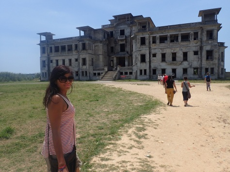 Abandoned hotel in Kampot