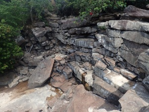 Dry waterfall in Kampot