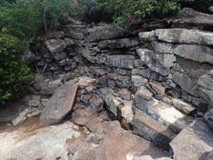 Dry waterfall in Kampot