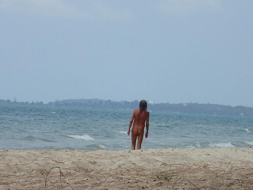 G-string man on Ocheteul Beach