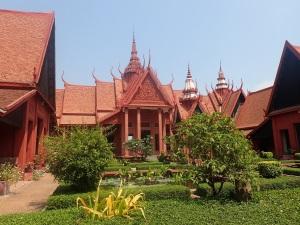 Phnom Penh museum courtyard