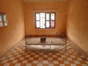 A cell in the Phnom Penh school-prison
