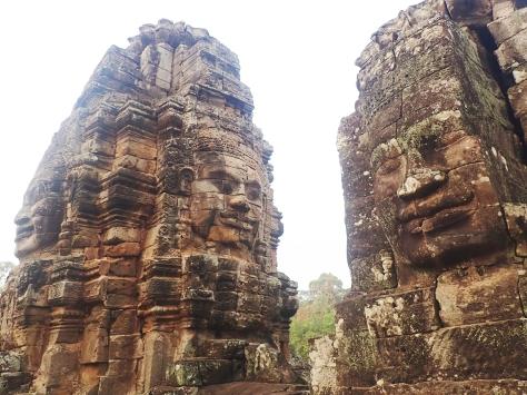 Bayon heads in Angkor Thom