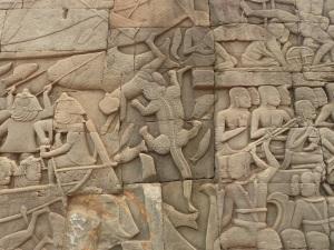 Bayon temple engravings