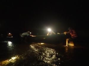 Kong Lor boats need a push in the dry season