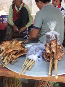 Laos snacks on the buses