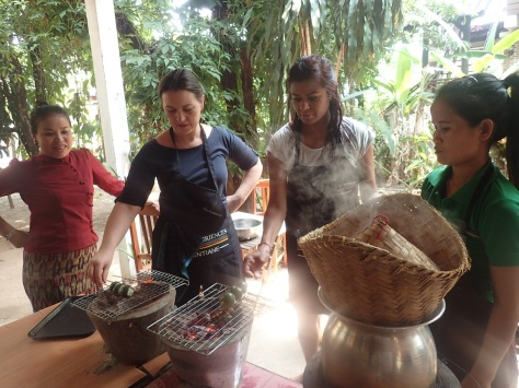Cooking class, Vientiane