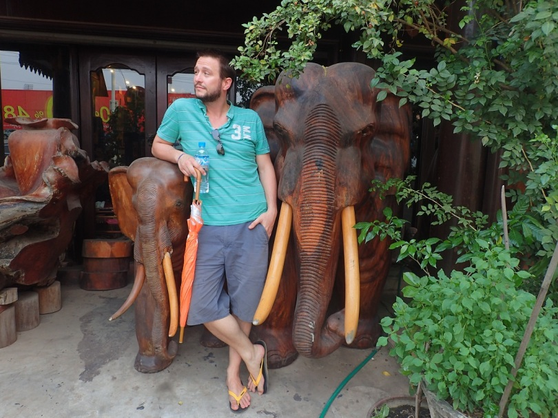 Elephant statues in Vientiane