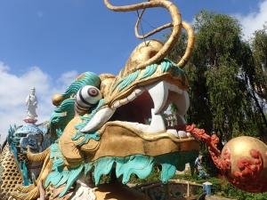 Massive dragon sculpture in Dalat