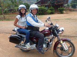 Biking around the hill station in Vietnam