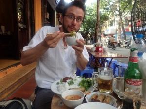 Hanoi dish bunn chaa