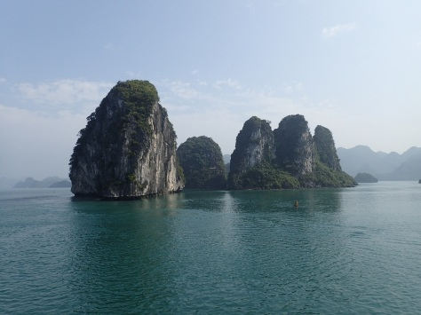 Crazy rock formations in Ha Long Bay