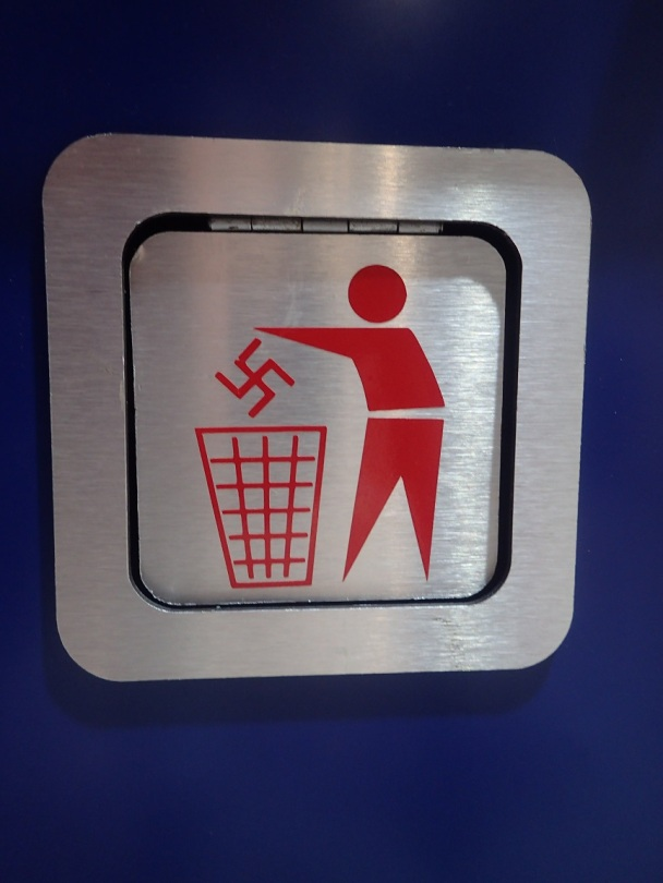 Strange bin urging people to bin Hinduism