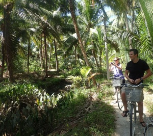Cycling around Ben Tre, Vietnam