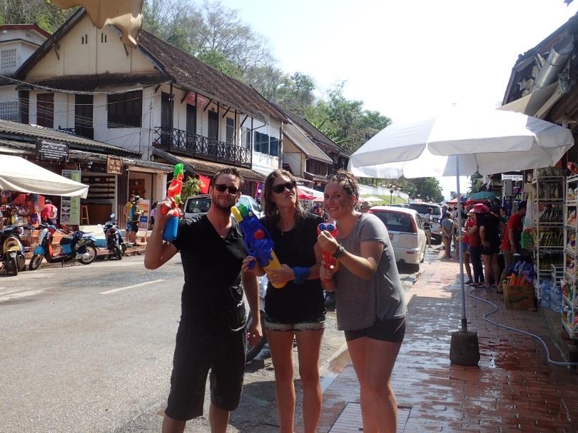 Hitting Laos New Year in Luang Prabang