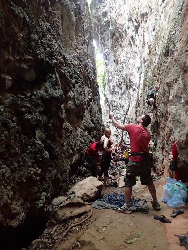"""Vang Vieng's """"Sleeping Wall"""" chasm"""