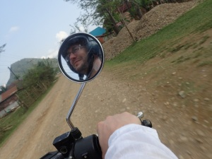 Riding to the Blue Lagoon, Vang Vieng