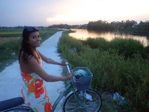 The road to Cua Dai beach from Hoi An