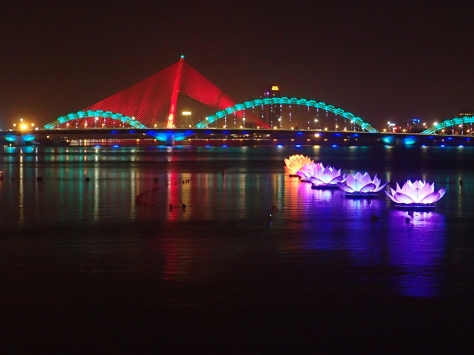 View of the Dragon Bridge, Danang
