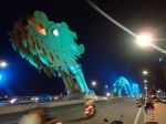 Danang's Dragon Bridge at night