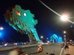 Danang's Dragon Bridge at night