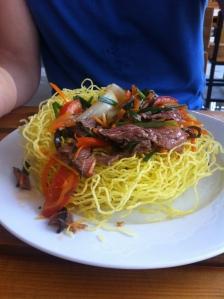 Crispy noodles in Vietnam